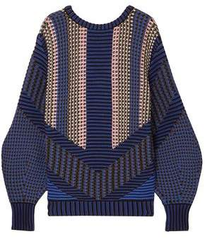 Peter Pilotto Cotton-blend Jacquard Sweater