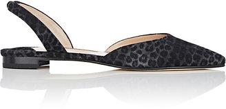 Manolo Blahnik Women's Carolyneflat Suede Slingback Flats $645 thestylecure.com