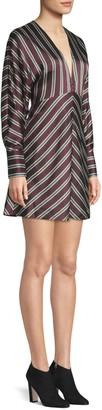 Alexis Tena V-Neck Striped A-Line Dress