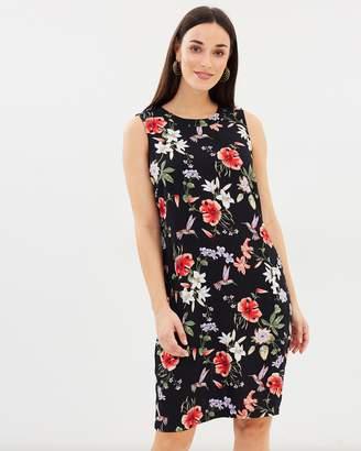 Wallis Hummingbird Oriental Pinafore Dress