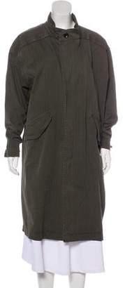 Raquel Allegra Striped Long Coat
