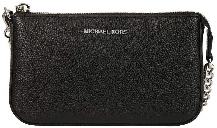 Michael Kors Chain Clutch - NERO/ARGENTO - STYLE