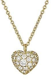 Finn Women's Puffed Heart Pendant Necklace