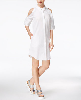 RACHEL Rachel Roy Cold-Shoulder Shirtdress, Only at Macy's $129 thestylecure.com