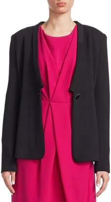 Armani Collezioni Women's Solid Button Jacket