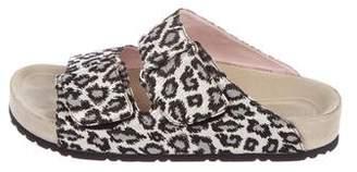 Giamba Glitter Slide Sandals