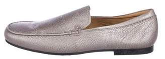 Tod's Metallic Leather Driving Loafers