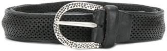 Italian Belts eyelet detail belt