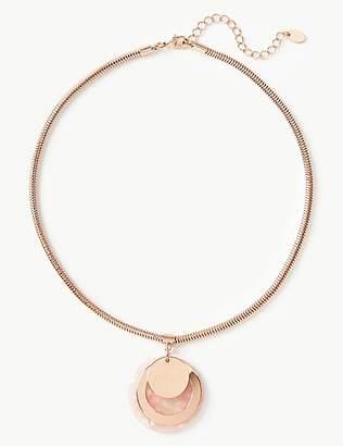 M&S Collection Disc Pendant Necklace