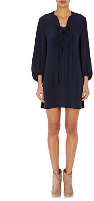 Derek Lam Women's Crepe Shift Dress-NAVY $1,495 thestylecure.com