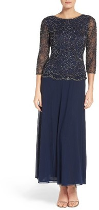 Women's Pisarro Nights Embellished Mesh & Chiffon Gown $218 thestylecure.com