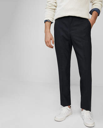 Express Slim Flannel Wool Dress Pant