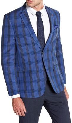 Ben Sherman Blue Plaid Two Button Notch Lapel Sport Coat $129.97 thestylecure.com