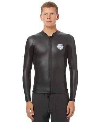 98d4a3da14 Rip Curl Men s Aggrolite 1-5Mm Frontzip Wetsuit Jacket Black