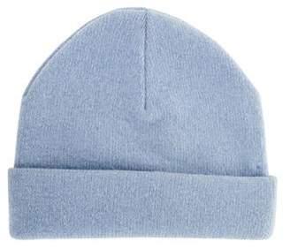 Burberry Merino Wool-Blend Knit Beanie Blue Merino Wool-Blend Knit Beanie