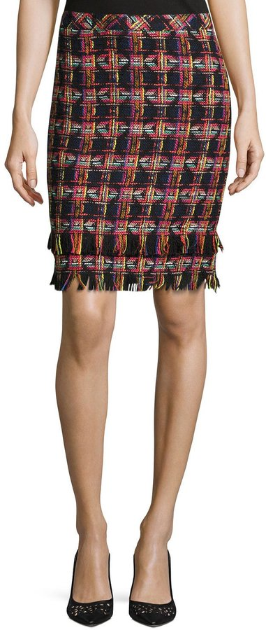 Trina Turk Jael Tweed Pencil Skirt, Multi