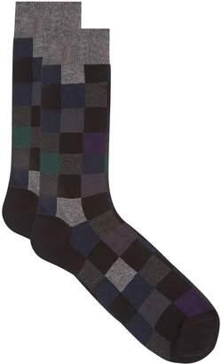 Dore Dore Square Block Cotton Socks