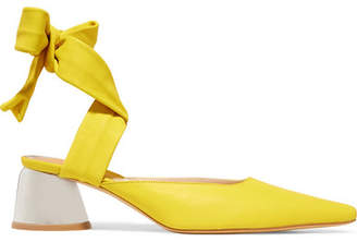 Ellery Leather Pumps - Yellow