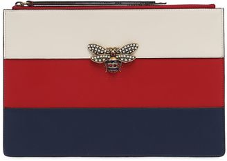 Gucci Bee Color Block Leather Pouch