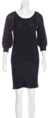 Alexander McQueen Embellished Sweater Dress