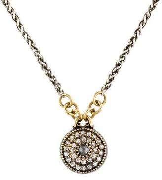 Mizuki Diamond Disc Pendant Necklace
