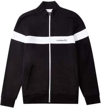 Burton Mens and White 1996 Funnel Neck Sweatshirt