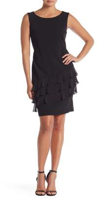 Connected Apparel Front Ruffle Sleeveless Dress