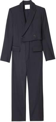 Tibi Tablier Plainweave Blazer Jumpsuit