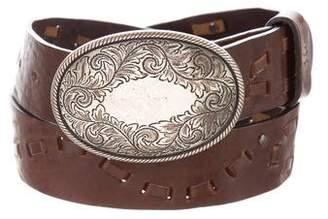 Henry Beguelin Embossed Leather Belt