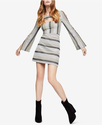 BCBGeneration Striped Cutout A-Line Dress