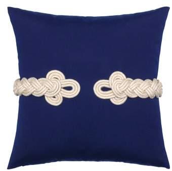 Navy Frogs Clasp Indoor/Outdoor Accent Pillow