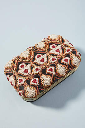 Anthropologie Traveler Beaded Clutch