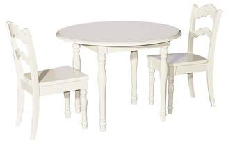 Powell Company 3pc Londyn Table and Chairs Set White