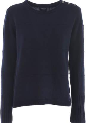 Armani Jeans Buttoned Shoulder Sweater