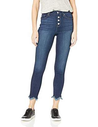 William Rast Women's Sculpted High Rise Skinny Ankle with Button Fly