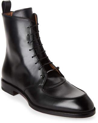 Christian Louboutin Black Ajmone Lace-Up Boots