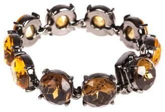 Oscar de la Renta Orange Rhinestone Bracelets
