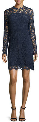 Elie Tahari Priscilla Long-Sleeve Lace Cocktail Dress $498 thestylecure.com