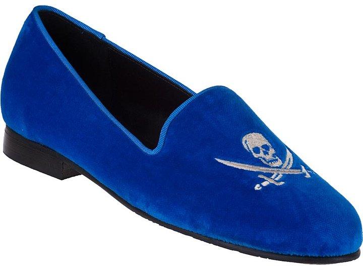 JON JOSEF G-Skull Loafer Blue Navy Velvet
