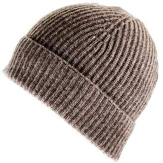 Black Brown Cashmere Beanie Hat