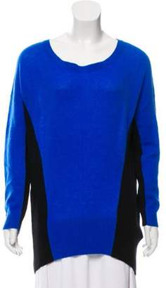 Magaschoni Cashmere Scoop Neck Sweater Blue Cashmere Scoop Neck Sweater