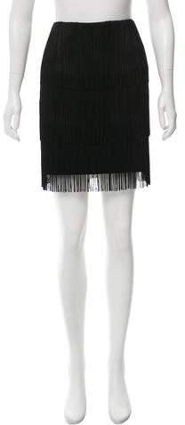 Michael Kors Fringe-Accented Mini Skirt