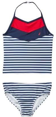 Nautica Chevron & Stripe Tankini & Bottom 2-Piece Swim Set (Toddler Girls)