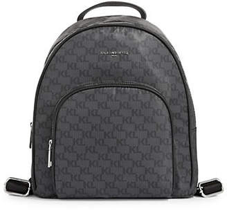 Karl Lagerfeld PARIS Cara Logo-Print Backpack
