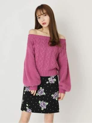 CECIL McBEE (セシル マクビー) - セシルマクビー ドットフラワータイトスカート