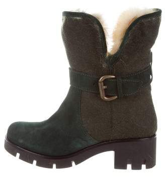 Mr & Mrs Italy Suede Fur-Trimmed Boots