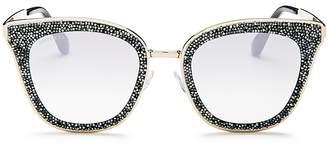 Jimmy Choo Lizzy Glitter Cat Eye Sunglasses, 50mm