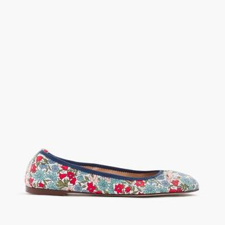 Lea ballet flats in Liberty® poppy and daisy floral $128 thestylecure.com