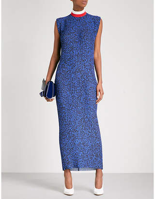 SOLACE London High neck pleated maxi dress