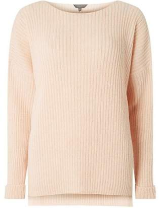Dorothy Perkins Womens **Tall Nude Boxy Fit Ribbed Jumper